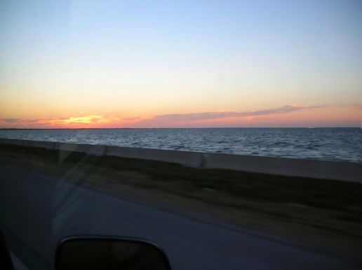 sunset yesterday almost to the skyway