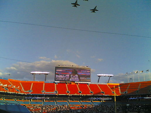 Marlins Opening Day Flyover