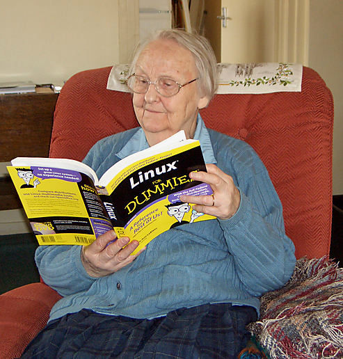Linux... you are never too old to learn ...