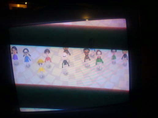 Mii Parade!!! (plus crappy TV + camera combo)