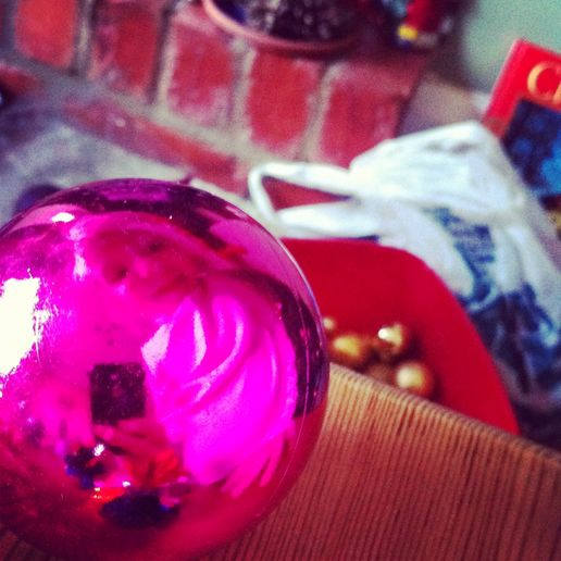 Maisie in a bauble