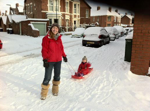Off to go sledging