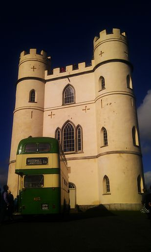 Bus meets tower
