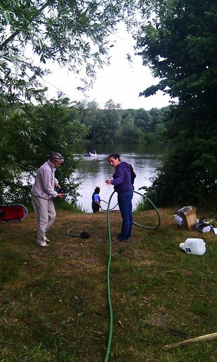 Installing sampling hoses in UEA broad