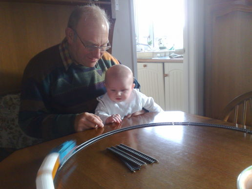 model train fun with grandad