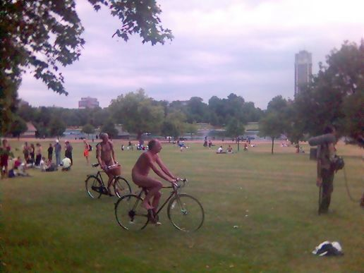 Naked cycling in hyde park