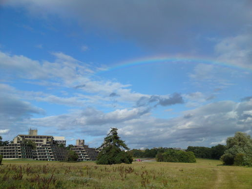 rainbow over ziggurats