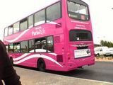 Hot pink double decker
