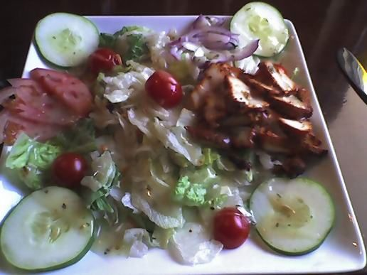 Moghul salad with chicken