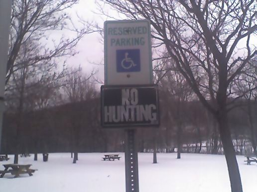 No hunting for the handicapped