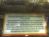 Dear Bakery Customers