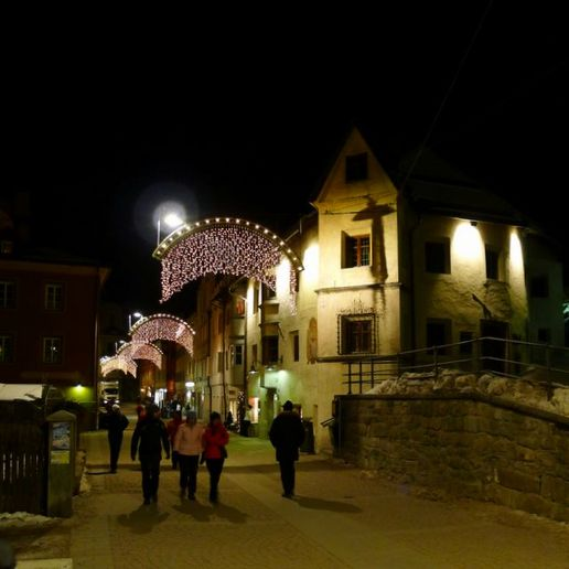 Brunico by night