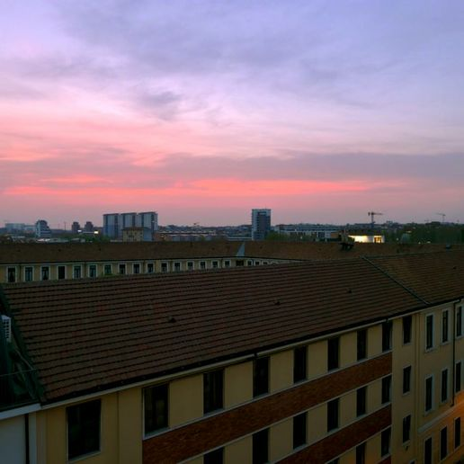 sunset in milan