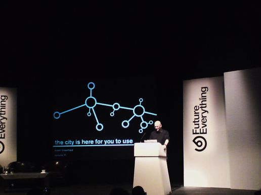 Adam Greenfield gave a wonderful talk on connected cities.
