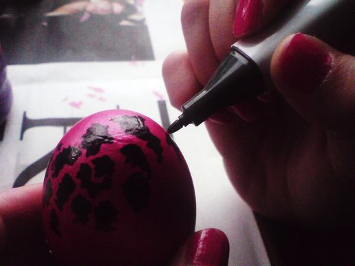 Egg painting fun- the process