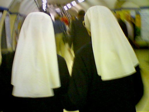 Identical twin nuns.