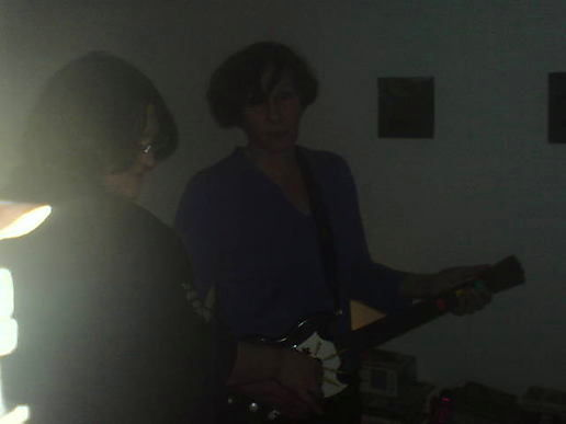 My mum, guitar hero