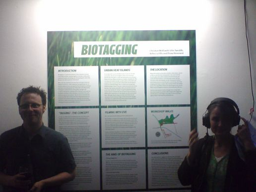 Rebecca and Christian led the Biotagging project within Futuresonic  Env 2.0