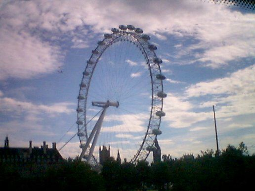 scenic shot of the london eye
