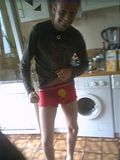 Deano wears his Mr Happy Pants