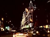 Harrods at night