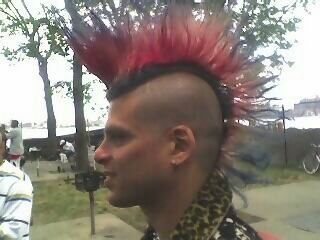 MonkeeSee says: a real mohawk. East river park. NYC