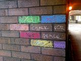 chalk for peace...