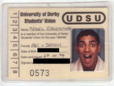 ID week: Student Union card, 1994