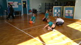 Playing goalball!