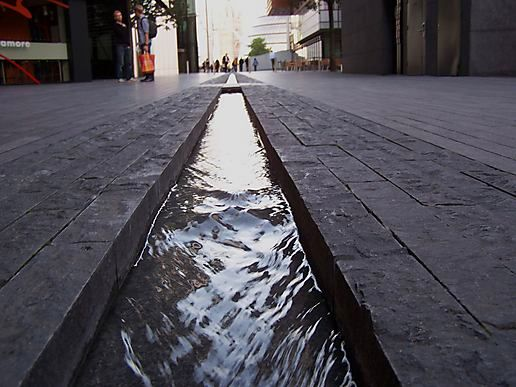 pavement water feature