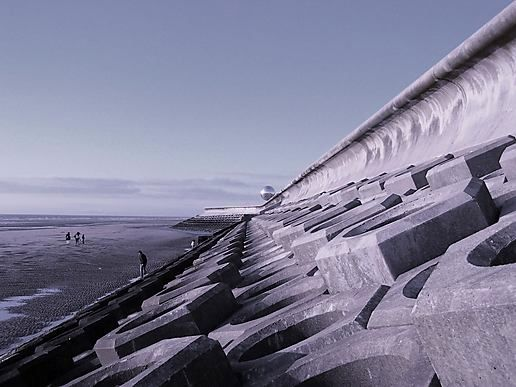 space age sea wall