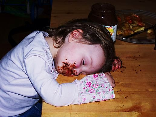 The Chocolate kid sleeps............................