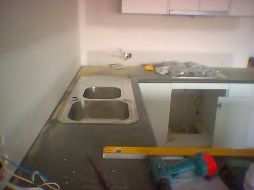 Sink and hot plates