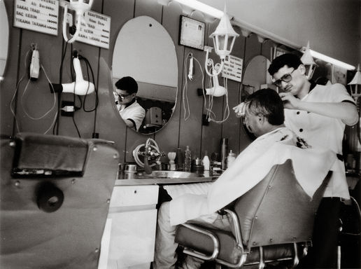 Dad, Barbershop, Tunisia, '91