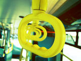 I love that london buses have yellow handles