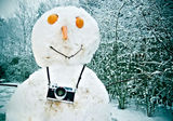 Just another snowman photographer