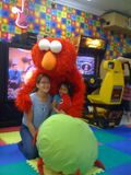 Hugs with Elmo