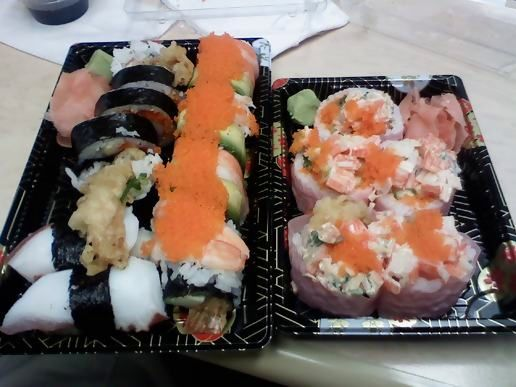 Sushi again for lunch!