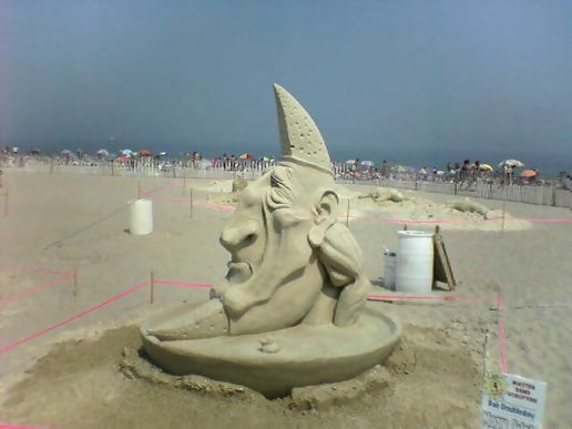 more sand sculpture