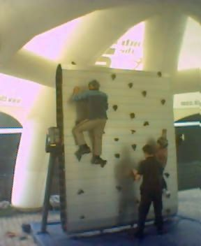 "Climbing Wall at Greenwich ""No Car Festival"" last Sunday.."