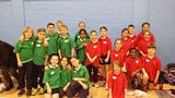 Year 4 athletics team doing well at our sports hall event.