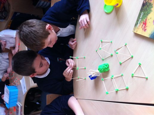 Year 5 Making 3d Shapes At The Cotgrave Candleby Lane