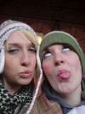 Amie and Saz making mischief in Nottingham