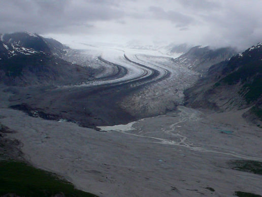 Birds-eye view of glaciers