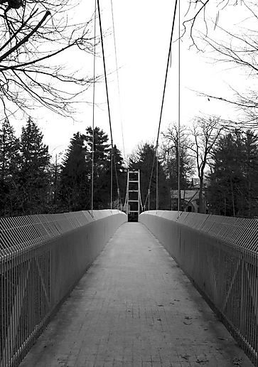 Bridge over the gorge at Cornell University
