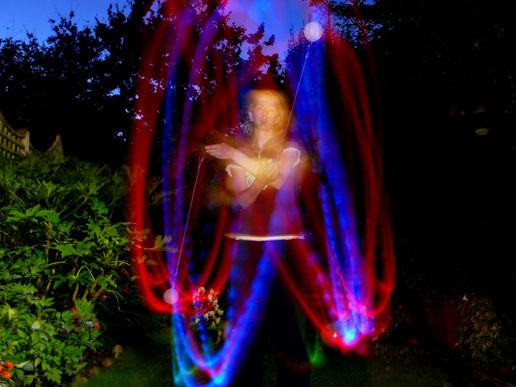 My sister plays with poi.
