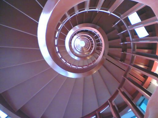 spiral staircase from bottom