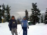 Sally and Simon at the top of the horizon run