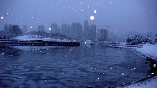 Vancouver in snow