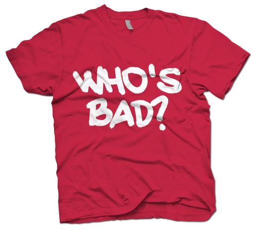 Who's Bad? Michael Jackson Tribute T-Shirt, at Regal ...